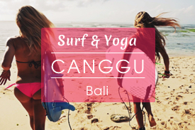 Surfcamp mit Yoga in Canggu auf Bali